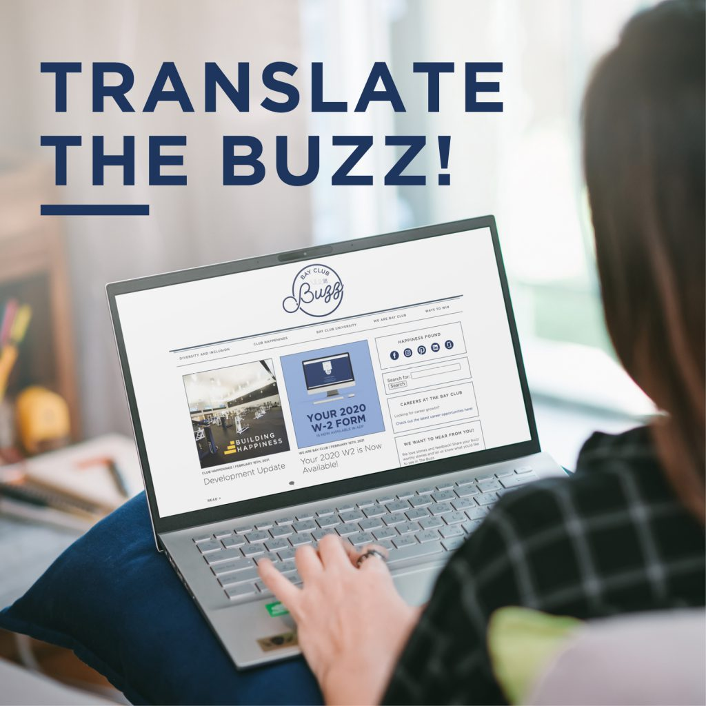Read the Buzz in Any Language!