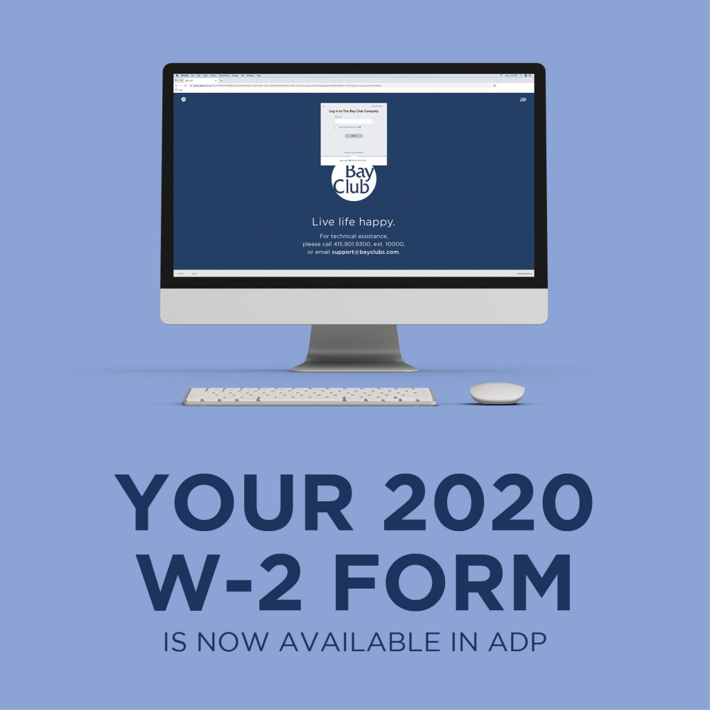 Don't Forget: Your 2020 W2 is Available in ADP!